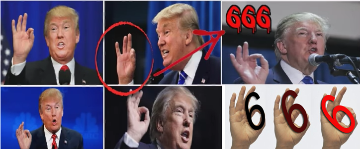 Trump's 666 Hand Sign Symbolism – Not 'White Power' Symbol – The ...